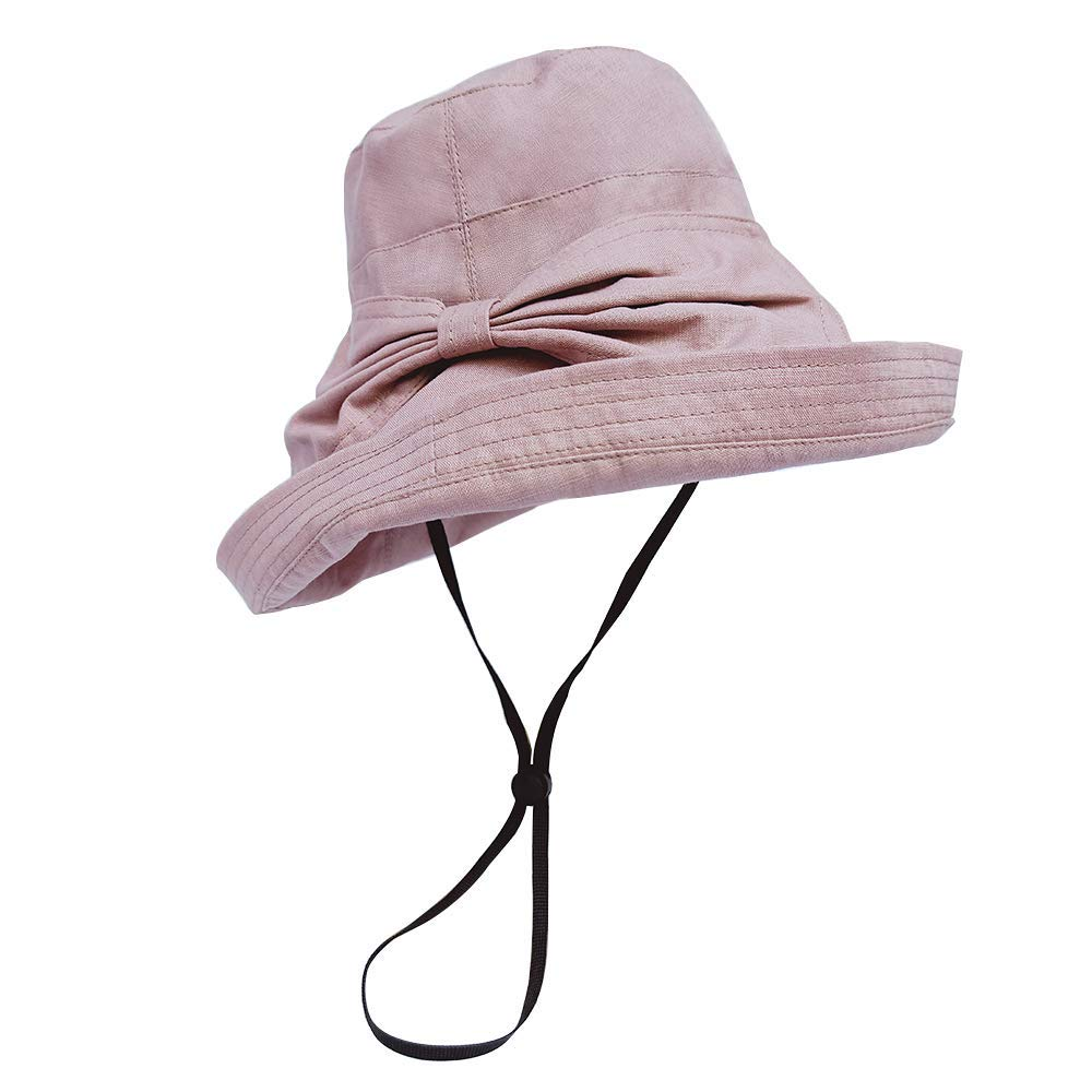 Get Quotations · EFONIA Womens Outdoor UV Floppy Foldable Summer Sun Hats  Casual Cotton Bucket Hat - Wide Brim 13abbcdc979f