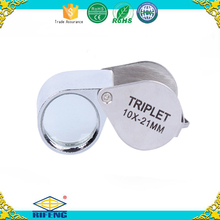 10X Pocket 21mm Lens Portable Jewels Loupe Diamond Magnifier