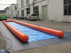 One lane inflatable city slide, inflatable street slide, inflatable water slip n slide cheap price