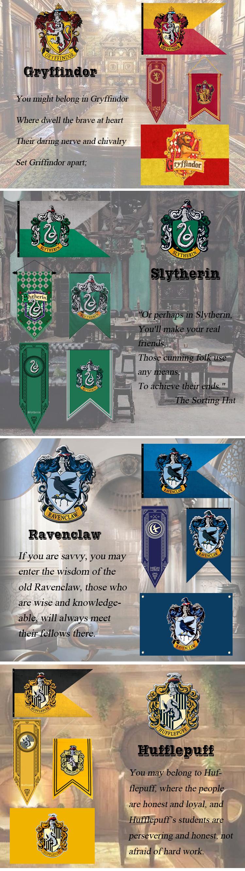 Custom Harry Potter Hogwarts School Four Houses Crests Banner Flag Buy Harry Potter Flag,Harry Potter Banner,Flags And Banners Product on