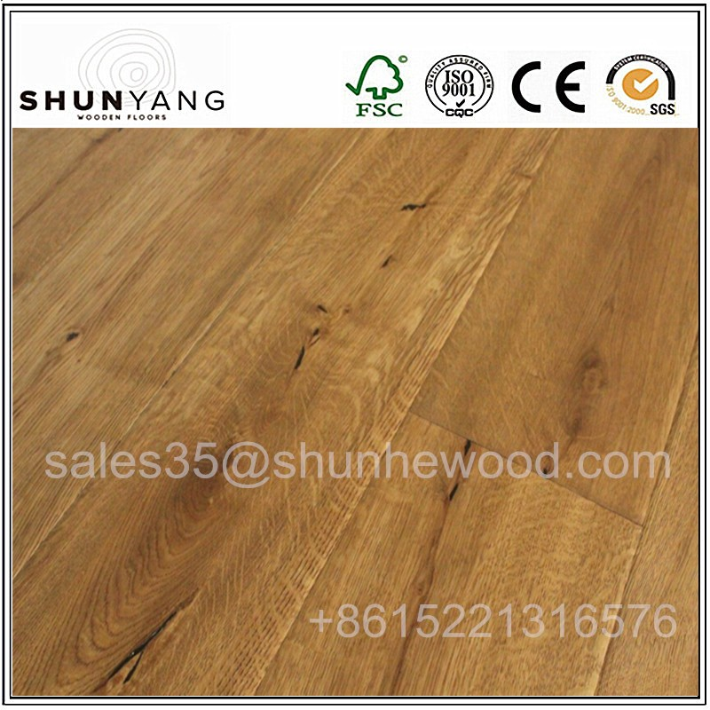 Indoor Usage smoked french oak parquet dark color engineered solid wood flooring