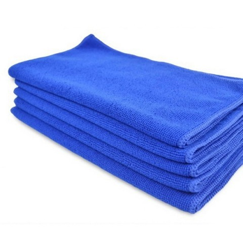 Free Shipping 5PCS Microfiber Car Clean Wash Polish Multi-function Towel Blue #gib