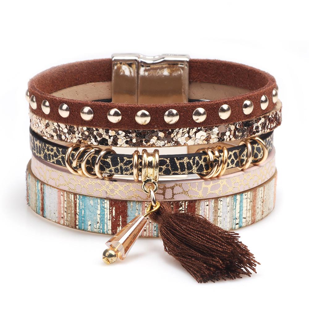 aebd687b83826 China Leather Wrap Bracelet, China Leather Wrap Bracelet ...