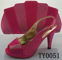 Buy Newest ladies matching shose set/pink shoes and bags to match ...