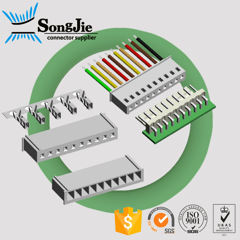 2.5mm Housing Connector 3p 3 Pin Female Crimp Connector Wire Harness ...