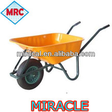 factory supply painted color metal tray large wheel barrow wb6414