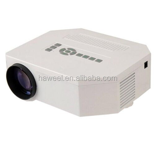 UC30 Full HD 1080P Home Theater Mini Projector for Video Games TV Movie, Support HD/ VGA / AV(White)