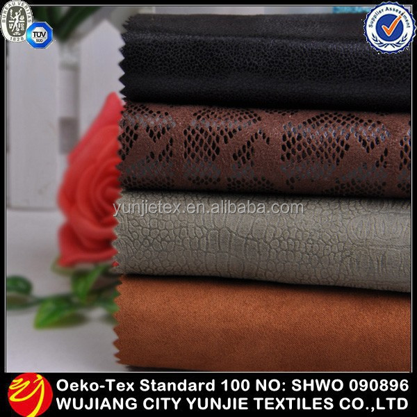 High Quality Fashion Polyester Embossed Microfiber Suede Fabric Manufacturer