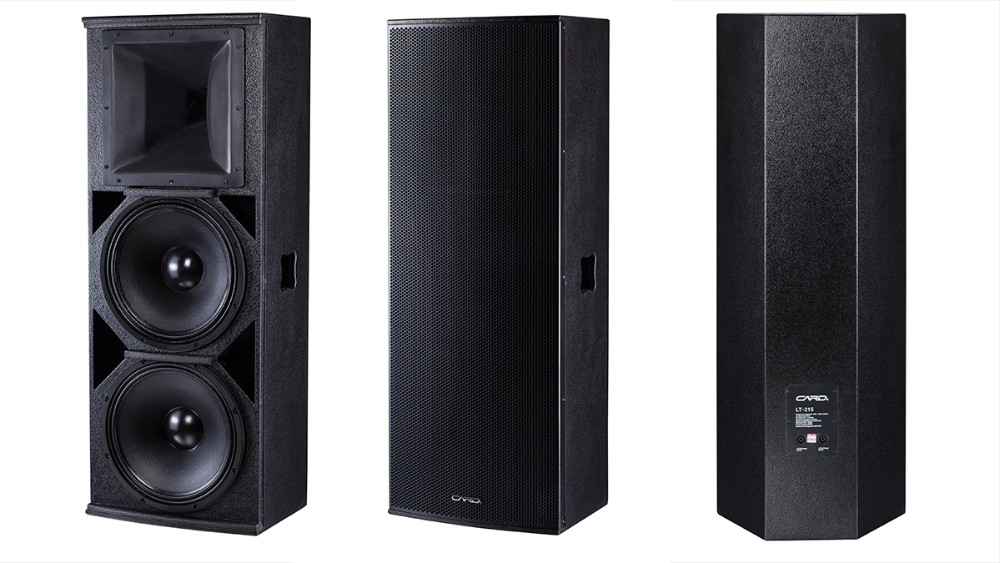 Double 15 inch woofer high quality sound effect full range powered speaker