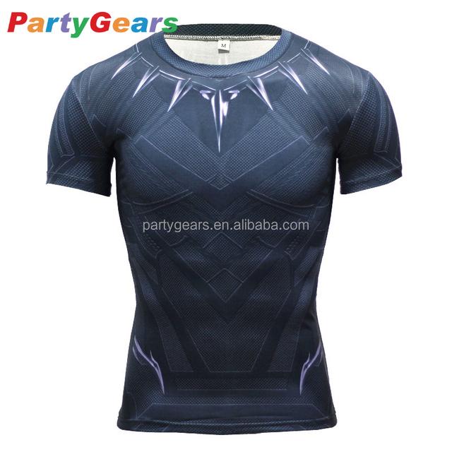 Marvel Captain America black panther t shirt