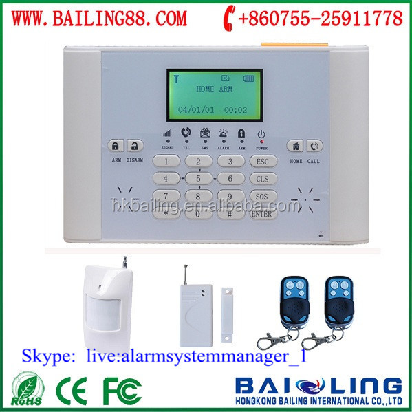 Low price GSM based home house security alarm systems with 110DB sound siren