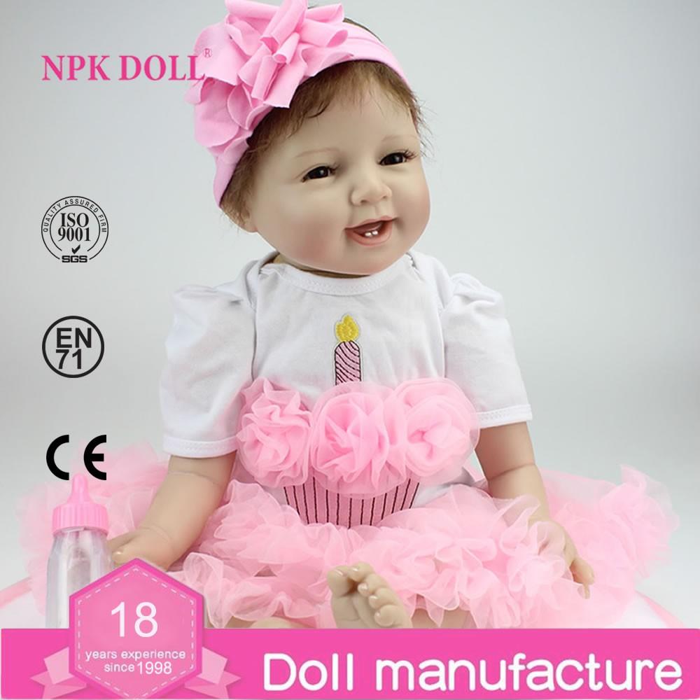 Npk Doll 22inch Soft Silicone Reborn Baby Dolls Handmade