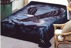 Eagle Solaron Korean Thick Mink Plush Blanket Queen