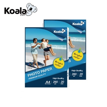 Koala factory supply 260g inkjet a4 glanzend fotopapier