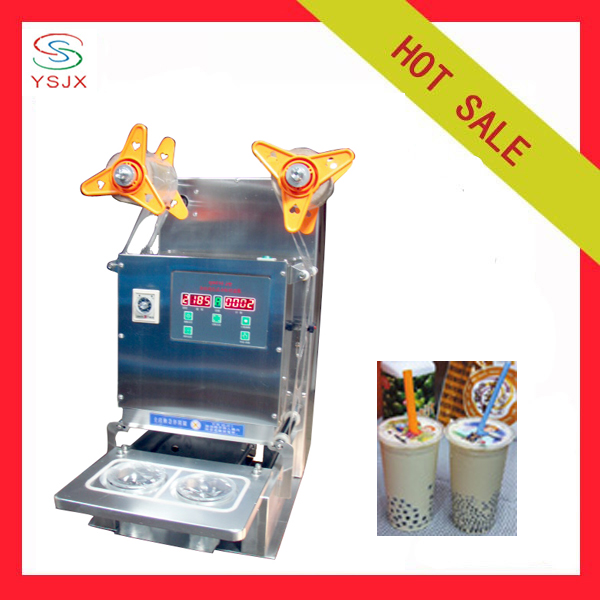 stainless steel body Automatic topseal cup sealer machine