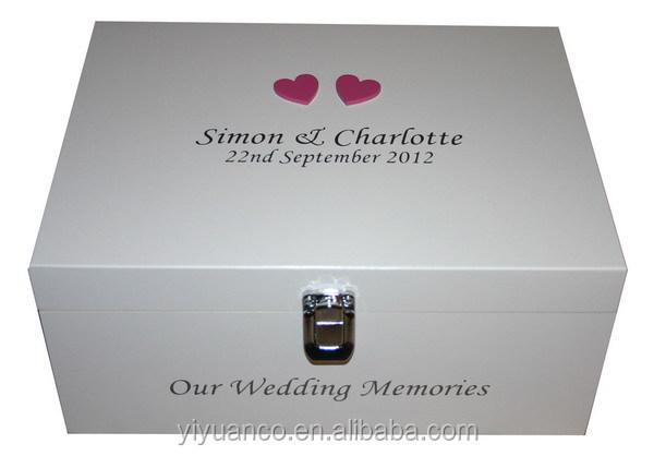 Wholesale Luxury A4 Acrylic Wedding Box With Printed Words