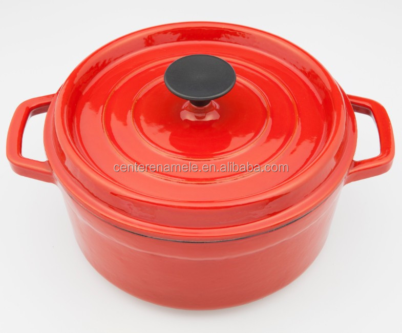 die coating enamel cast iron cookware french oven casserole round shape cooking pot set