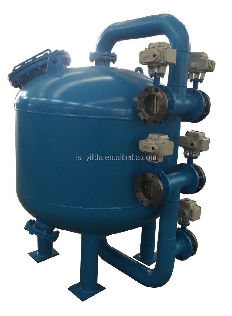Multi way control valve automatic backwash bypass sand