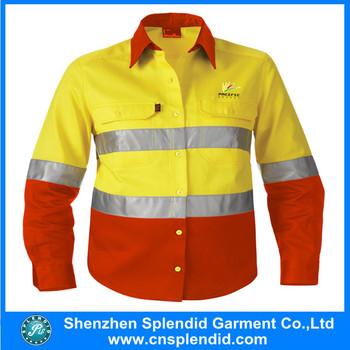Wholesale hi vis apparel fluorescent yellow vest for Wholesale high visibility shirts