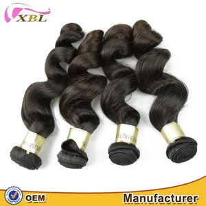 XBL loose wave brazilian 8a grade hair premium quality thick weave hair fast delivery 8a grade brazilian hair human