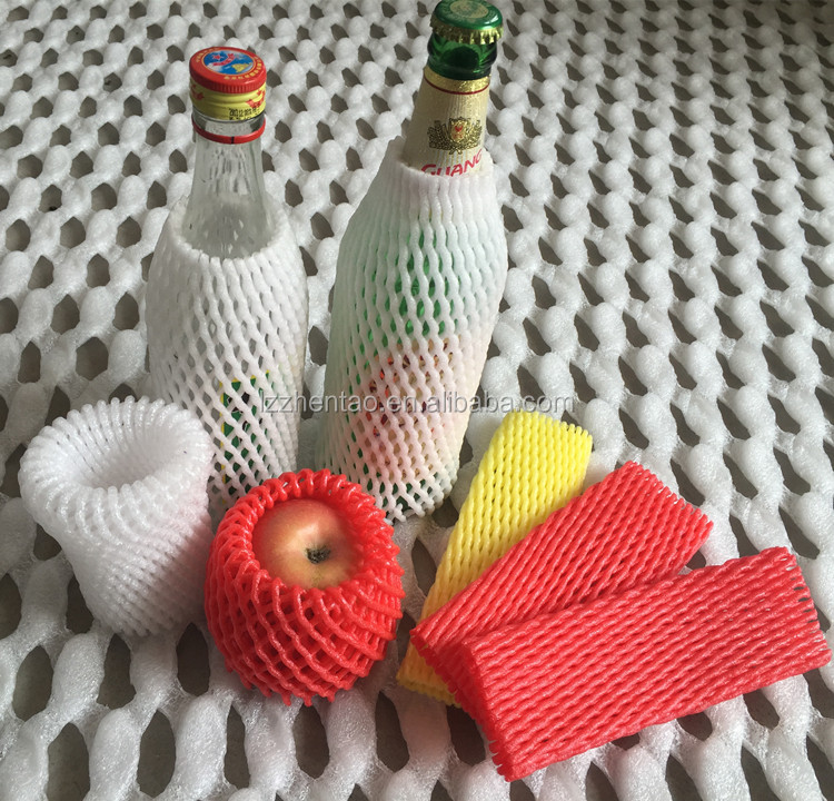free samples plastic foam net / fruit foam sleeve / rose bud net / wine bottle protector