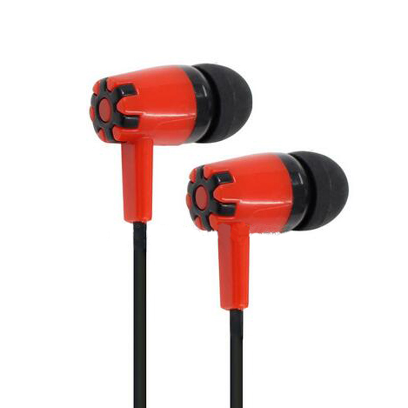 Wired In-ear Deep Bass Noise Cancelling Anti-sweating Running Headsets With Mic & Perfume