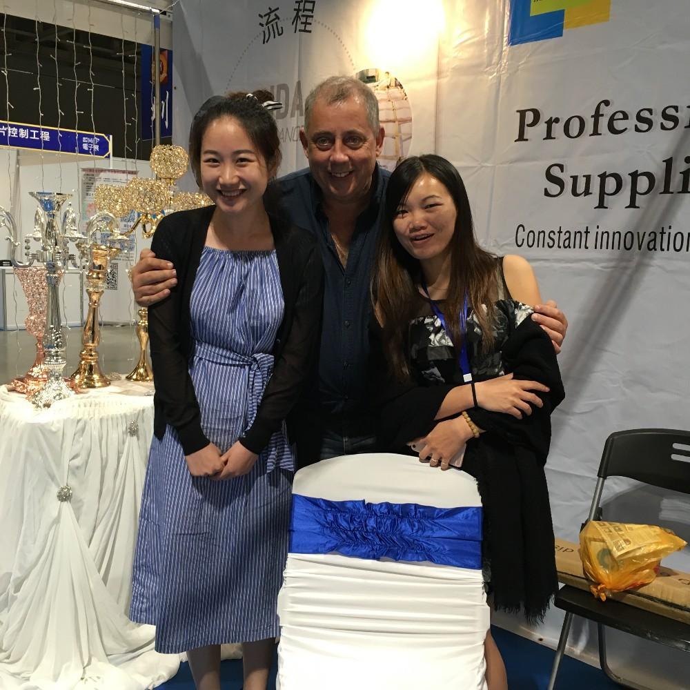 China fabricante de recepção do casamento da orquídea flor artificial para venda