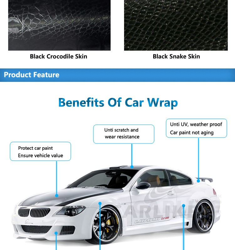 Wholesale Snake Skin Auto Wrap Vinyl Stickers With Air Channels - Custom vinyl stickers for cars   the advantages