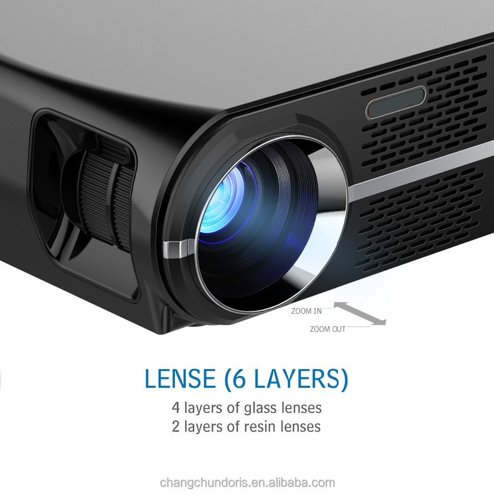 GP100UP Multiple format sub-title LED 3500 Lumens wifi portable 4K beamer projector wireless android system