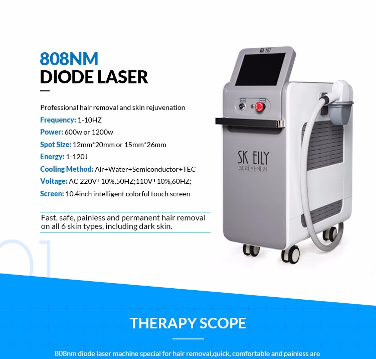 808nm diode laser permanent hair removal system beauty products for women