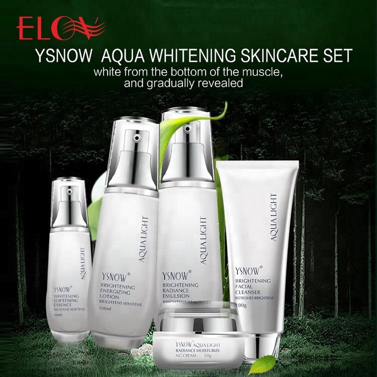 Private Label Beauty SKin Care Products Body Lotion Cream Popular Aqua Light Brightening Whitening 5PCS Face Skin Care Set