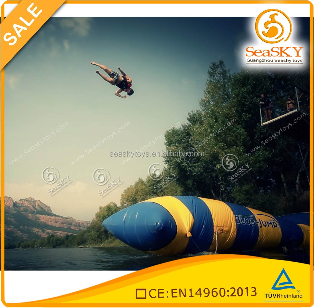Outdoor sport Inflatable Water Jumping Blob , inflatable Blob Jump on water