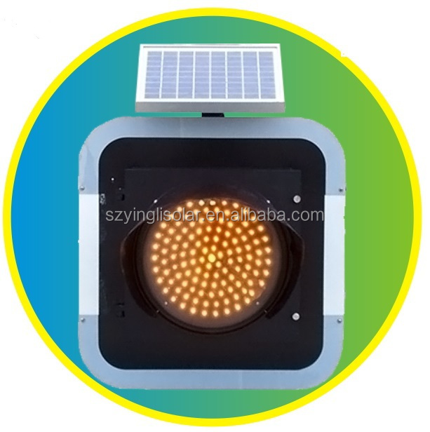 Solar Traffic Warning Light Charge By Solar Panel