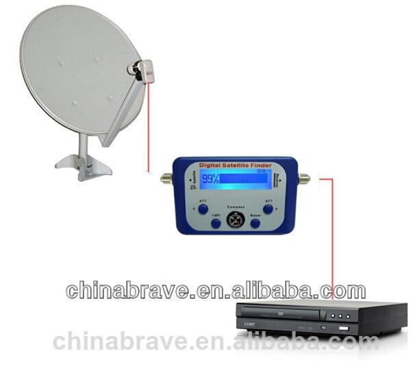 Digital Satellite Finder Meter Sat Finder With Lcd Display