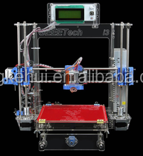 UNO R3/ MK3 heat bed/J-head assembled /3D Printer Reprap Prusa i3 DIY Kit with 2004LCD(transparent color acrylic)