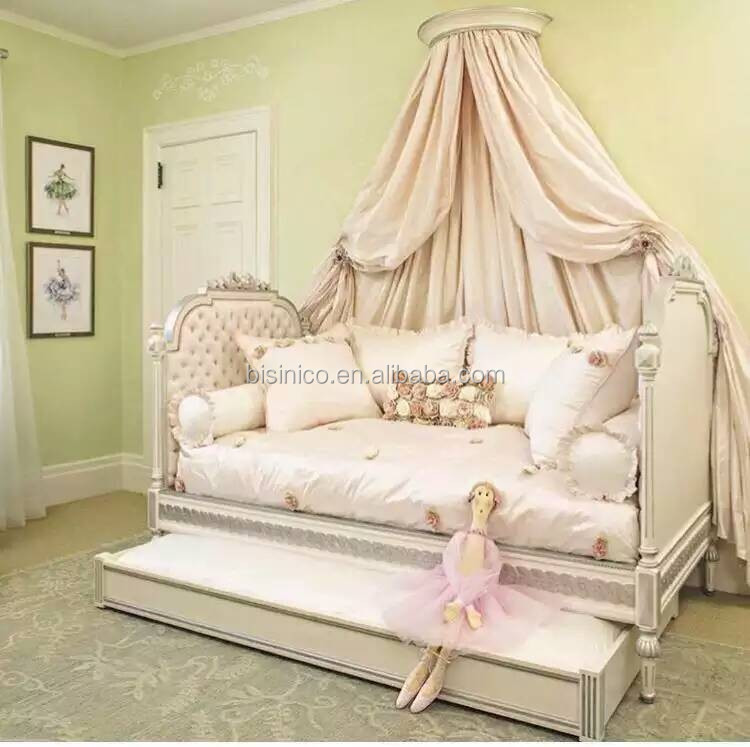 Dillards Furniture Brands: Victoria Style Solid Wood Carved Kid's Daybed, Ornate