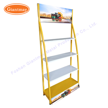 Gas station floor standing high quality engine motor oil paint wholesale display stand rack for lube