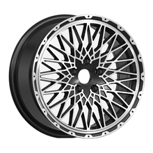 17 inch alloy wheels for racing car, machined wheel rims with pcd 114.3