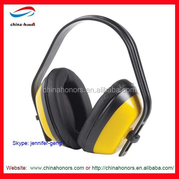 black yellow waterproof ear muffs