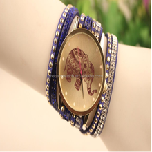 2015 Newest Arrival vintage bracelet chinese wholesale cheap women leather fashion lady watch