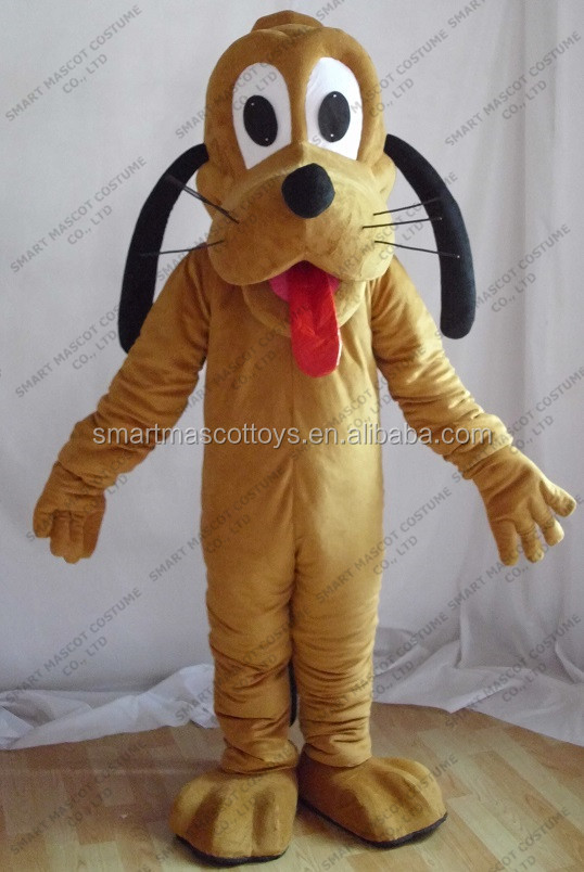 Good quality cheap adult dog costume brown dog mascot costumes