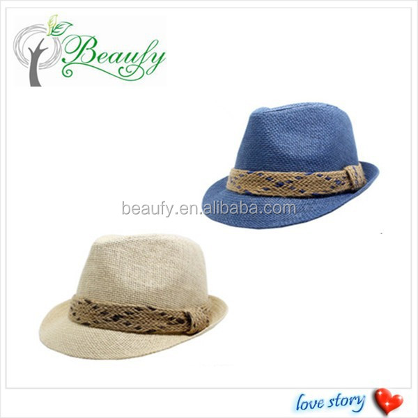 Factory Supply Paper Straw Fedora Hat