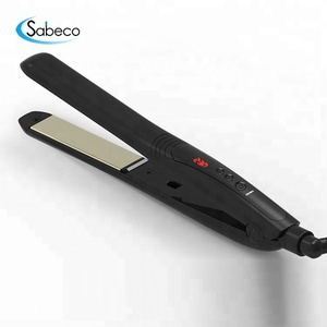 Sabeco hot tools flat iron women jet black hair straightener