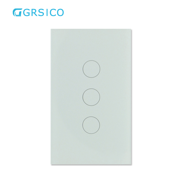 10A Tuya WIFI 3Gang 1 2 3 Way Wall Light Electrical <strong>Switch</strong> Supports 4MM Tempered Touch Glass and CE RoHS FCC Certification