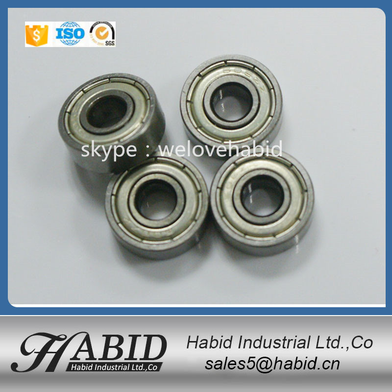 Carbon/Chrome Steel 608 miniature deep groove hover board ball bearing