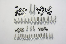 Free shipping motorcycle parts Silver Spike Fairing Bolts Kit For Suzuki 1999-2007  Hayabusa GSX1300R GSX-R 1300