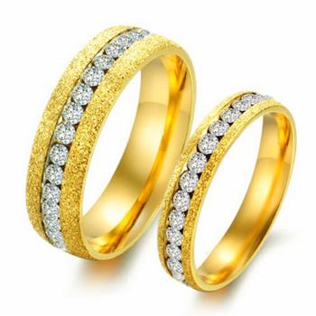 2016 Cubic Zirconia 18k Gold Wedding Ring New Model Dubai Engagement