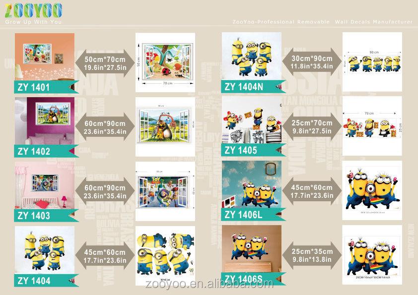 3d Wall Stickers Home Decor Zooyoo Kids Nursery Wall Stickers Cartoon  Animal Design Home Decoration (