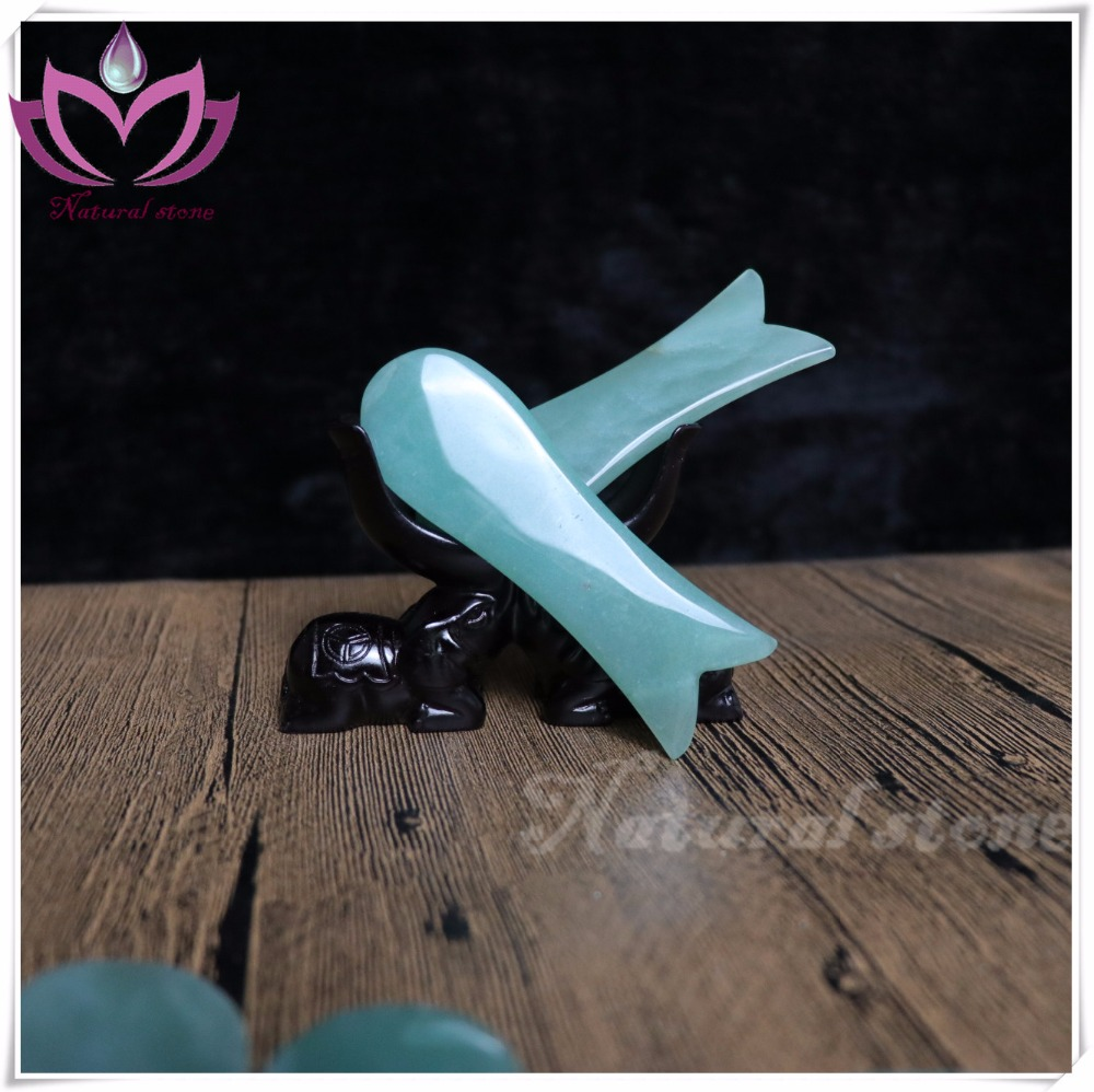 Labour Day Special offer chinese medicine apparatus 96*30*5mm green aventurin Gua Sha board massage tools lose weight