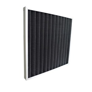 Aluminum Frame Black Synthetic Fabric Panel Pleated Pre Carbon Air Filter